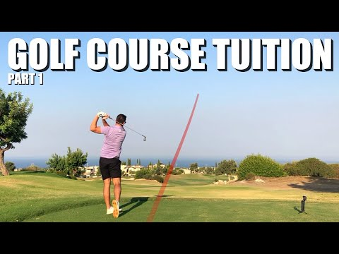 HOW TO PLAY GOLF | ON-COURSE TUITION VLOG | Aphrodite Hills, Cyprus