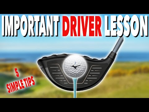 REALLY IMPORTANT DRIVER LESSON….DON'T OVERLOOK! Simple Golf Tips