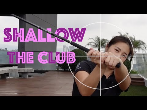 How to Shallow the Club – Golf with Michele Low