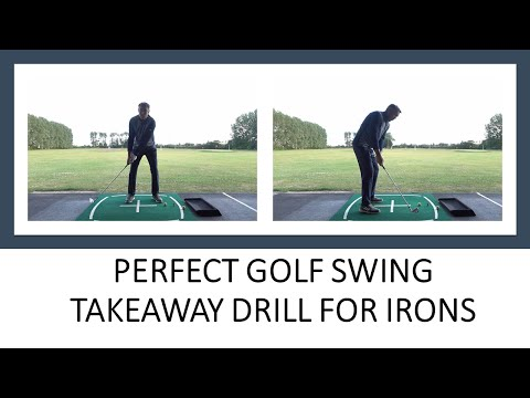 PERFECT GOLF SWING TAKEAWAY DRILL FOR IRONS