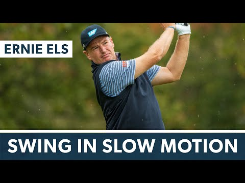 Ernie Els' sweet swing in slow motion (all angles)