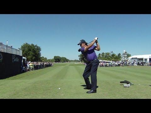 Phil Mickelson slo-mo swing analysis at Cadillac