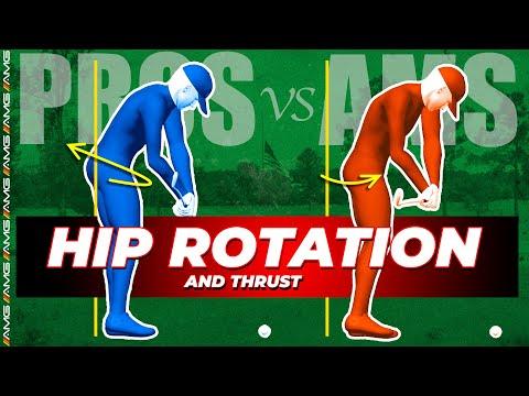Pros vs. Ams   Golf Swing Hip Rotation 🔄