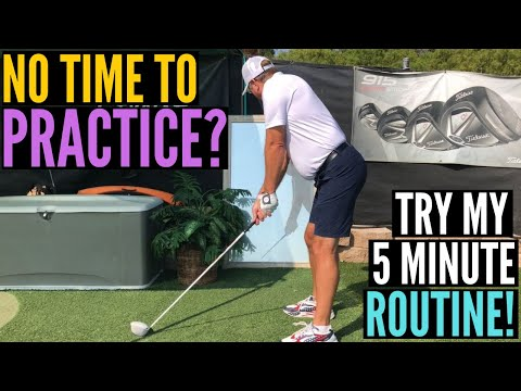 No Time to Practice Your Golf Swing?  Try My 5 Minute Home Routine!