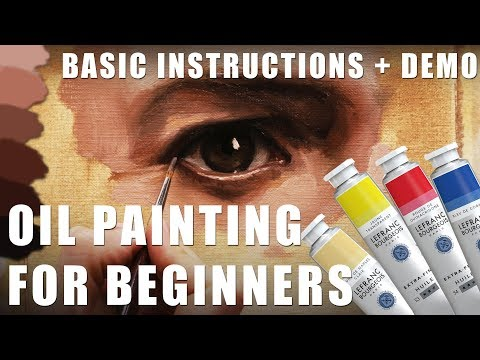 Oil Painting for Beginners – Basic Techniques + Step by Step Demonstration