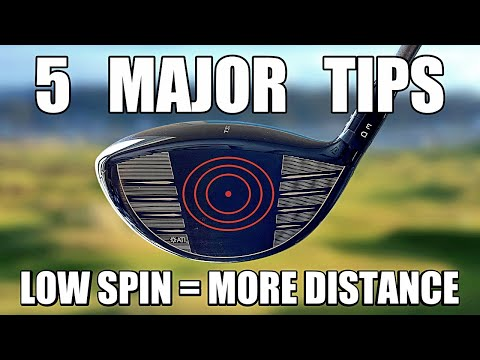 MY TOP 5 GOLF DRIVER TIPS | Lower Spin – Maximise Distance