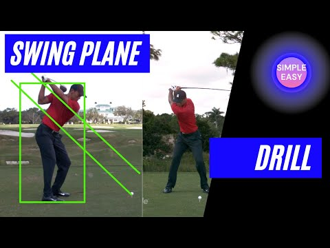 Simple drill to achieve an on-plane golf swing & Butch Harmon's advice on footwork