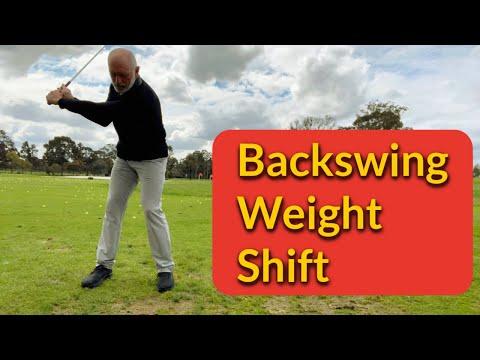 Pressure shift in backswing
