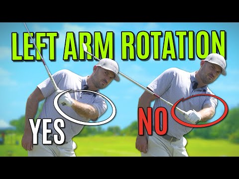 How To Rotate Your Left Arm In The Golf Swing