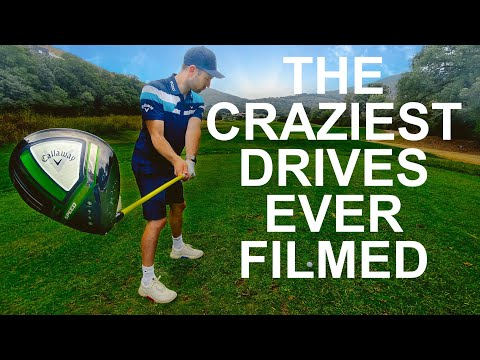 TWO CRAZY GOLF TEE SHOTS that will BLOW YOUR MIND