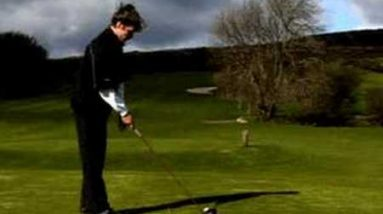Improving golf driving with a pre shot routine