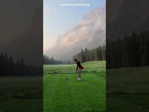 Shot Girl Golfing Swing #golfswing #shorts