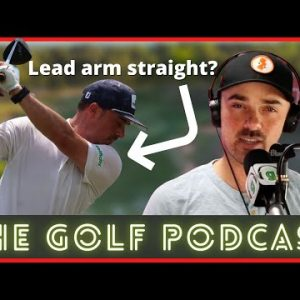 Keeping Your Lead Arm Straight in the Golf Swing   The Golf Podcast