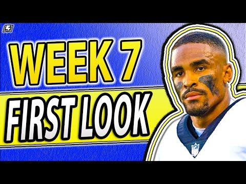DRAFTKINGS NFL PICKS WEEK 7 FIRST LOOK LINEUP PICKS | NFL DFS PICKS 2021