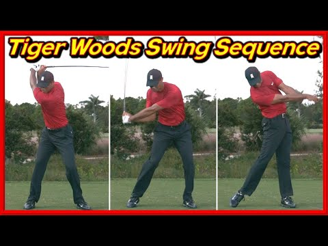 """Golf Textbook """"Tiger Woods"""" Perfect Driver Swing Sequence"""