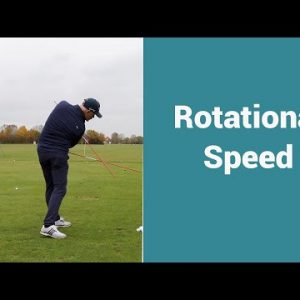 Increase your rotational speed for controlled club head speed.