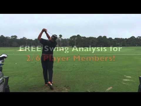 SLOW MOTION golf swing: DTL 2/6 golfer